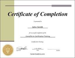 certificate of completion training 7 certificates of completion