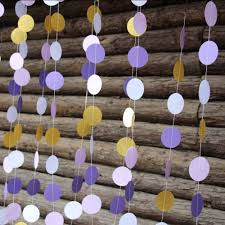 Purple Nursery Decor 5pcs Purple Paper Garland Ombre Purple Lavender Glitter Gold