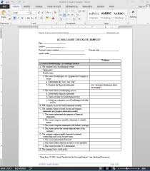 audit form templates free menu for microsoft word blank sample
