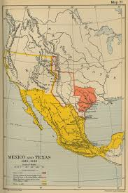 Mexico Map by Map Of Mexico And Texas 1845 1848