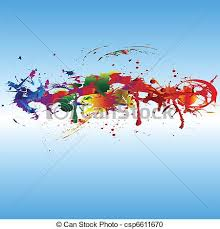 color paint splashes colorful abstract background color vector