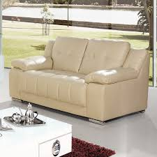 3 Seater Cream Leather Sofa Newham Ivory Cream Leather Sofa Collection