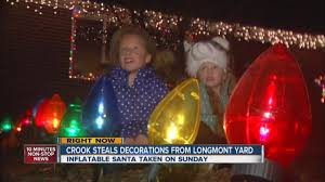 grinch steals christmas decorations from longmont yard youtube