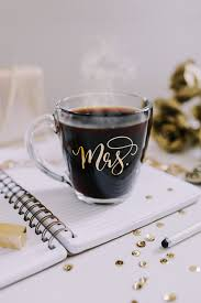 mrs mug gold foil mug glass mug coffee mug mr and mrs