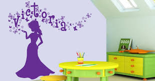 Wall Decal Letters For Nursery Personalized Lettering Magic Princess Wall Decals Dezign With A Z