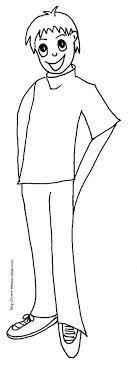 coloriage garcon dessin 4  Tête à modeler