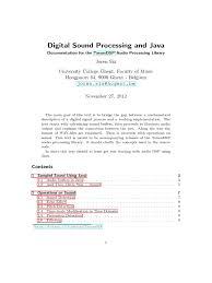 tarsosdsp 1 6 manual decibel sampling signal processing