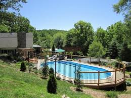 Backyard Landscaping Ideas With Pool Cool Above Ground Pools With Decks U2013 Modern Backyard Landscaping Ideas