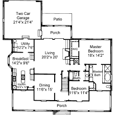 Bungalow Plans Country Style House Plan 4 Beds 3 00 Baths 2665 Sq Ft Plan 37 120