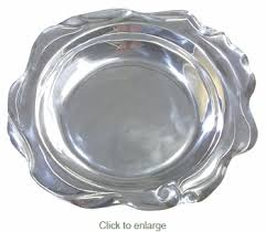 pewter serving platter oval mexican pewter serving tray with wavy