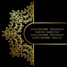 retro golden ornaments background 04 vector background vector