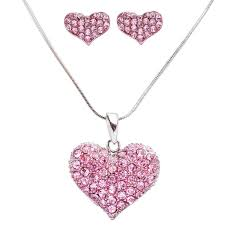 valentines day necklace accessoriesforever lovely sweet beautiful heart shape