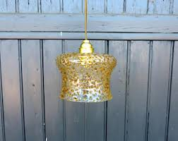 Yellow Glass Ceiling Light Mazzega Ceiling Lamp Etsy