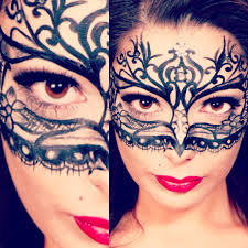 Halloween Makeup Design B K M Make Up U0026 Design Painted Lace Mask Design Amie Parsons