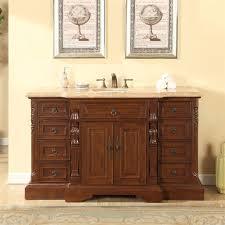 60 Inch Bathroom Vanit Accord 60 Inch Bathroom Vanity Roman Vein Cut Travertine Top