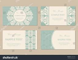 Invitation Cards Business Floral Vintage Business Invitation Cards Stock Vector 158927492
