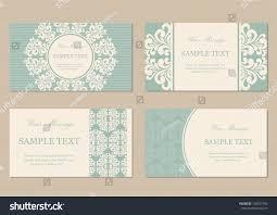 Business Invitation Cards Floral Vintage Business Invitation Cards Stock Vector 158927492