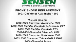 2003 cadillac escalade shocks replacement of front shocks on a 2003 chevrolet avalanche 1500 l