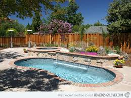 Backyard Designs With Pool Small Pool With Waterfall Designs Free Form Pool With Lush