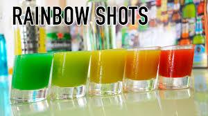 rainbow cocktail recipe rainbow shots l shot arcoiris l lab bar youtube