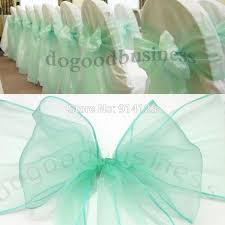 mint chair sashes fatory price high quality mint green organza chair sashes bow