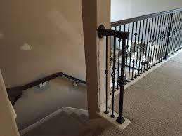 Banister Rail And Spindles Replacing Half Wall With Wrought Iron Balusters U2013 Angela East