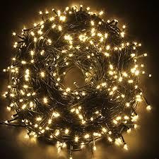 warm white string fairy lights 2 packs 24v excelvan 328ft100m 500 led christmas lights string fairy