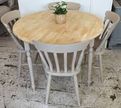 lovely round rubber wood table painted in rustoleum