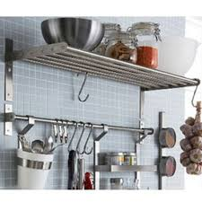 Stainless Steel Kitchen Shelves by Ikea Grundtal Kitchen Shelf Rail And Hooks Set Stainless Steel