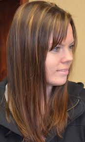 short brown with caramel lowlights hairstyle picture magz
