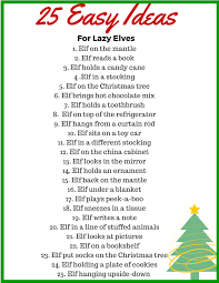 25 easy elf on the shelf ideas for your lazy elf u2022 binkies and