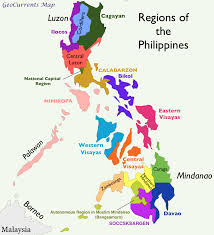 World Regions Map by Philippines Regions Map The Manifold Magazine