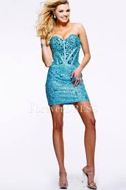 dark royal blue short prom dress with sweetheart neckline and sequins