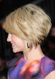 side view of blended wedge haircut short bob side view for older women for more style inspiration