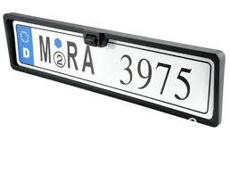 porta targa auto telecamera di retromarcia con porta targa auto cer con 4 led
