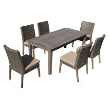 7 Pc Patio Dining Set The Hom Winchester 7 Piece Patio Dining Set Antique Gray With