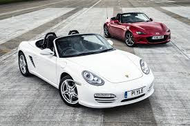 porsche boxster 2016 price new mazda mx 5 vs used porsche boxster roadsters compared autocar