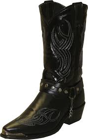 black motorcycle boots sage boots mens black cowhide cowboy harness usa cowboys cowboy