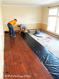 Installing Laminate Flooring On Concrete Diy Vintage Chic Diy Laminate Flooring