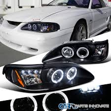 1994 mustang gt headlights ford 94 98 mustang cobra gt led halo projector headlights l