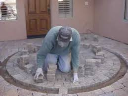 How To Cut Patio Pavers How To Cut In A Paver Circle Part 2