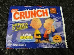 peanuts movie nestles crunch shaped like a jack o lantern 2017