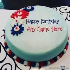 write name on fondant birthday cake for mother happy birthday