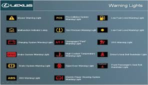 lexus rx 350 warning lights lexus indicator lights www lightneasy net