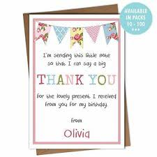 birthday thank you notes birthday thank you cards ebay