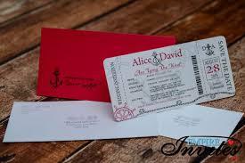 wedding invitations toronto nautical boarding pass wedding invitations at the toronto