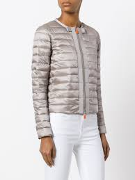 where can i buy duck save the duck zipped padded jacket 00144 pearl grey women clothing