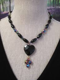black agate necklace images Black agate and rainbow hematite necklace made by marianne jpg
