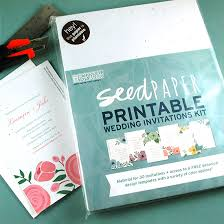 do it yourself wedding invitation kits seed paper printable wedding invitations kit plantable wedding