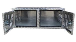 Truck Bed Dog Crate Dog Boxes Hunting Dog Crates Diamond Plate Aluminum Metal